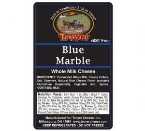 Blue Marble Whole Milk Cheese 0108 $5.78 Per Lb